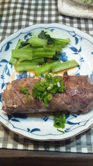 お豆腐巻き牛ぽんステーキ