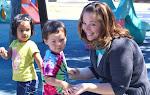 LePort Montessori Preschool Toddler Program Irvine San Marino - having fun with the teacher at the playground