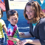 LePort Montessori Preschool Toddler Program Irvine San Marino - having fun with the teacher at the playground
