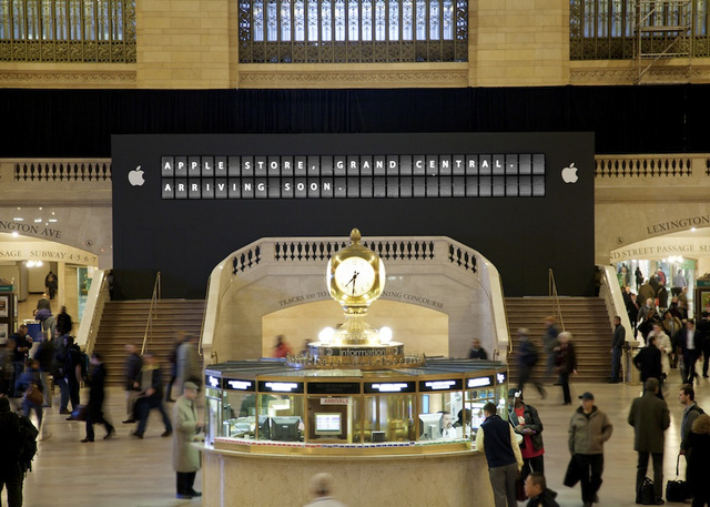 Here Comes The iTrain | Apple Store in Grand Central
