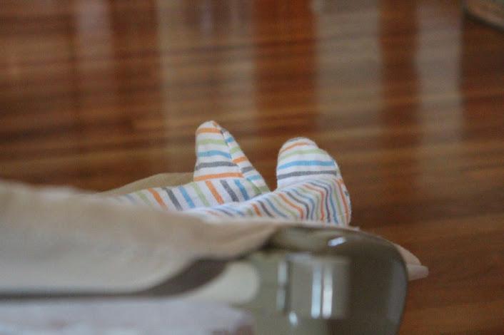 stripey feet