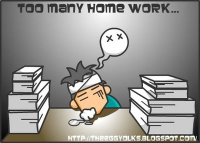 I never do my homework at home