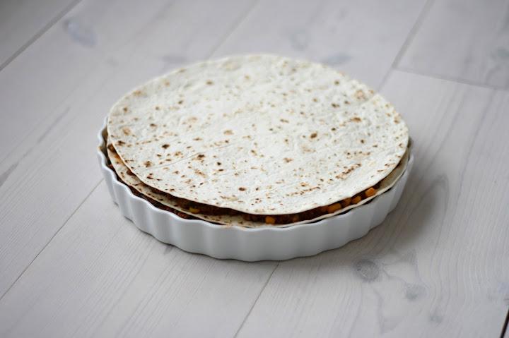 Mexicansk Tortillalasagne