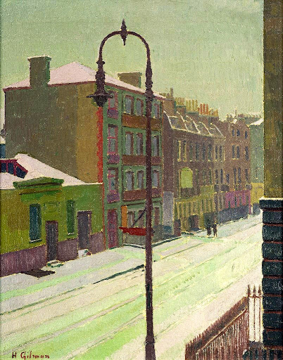 Harold Gilman - London Street in the Snow