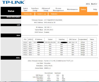 TP-link status