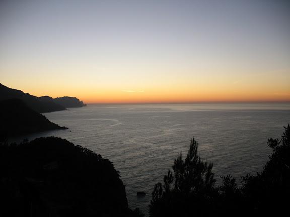 Ocaso en Mallorca en diciembre de 2008