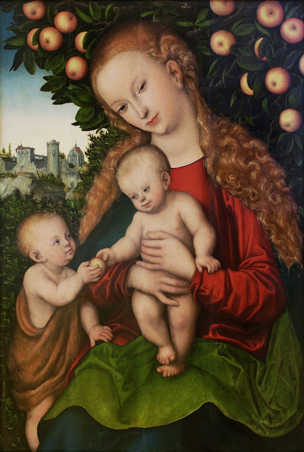 Lucas Cranach the Elder - Virgin and Child with St. John under an apple tree