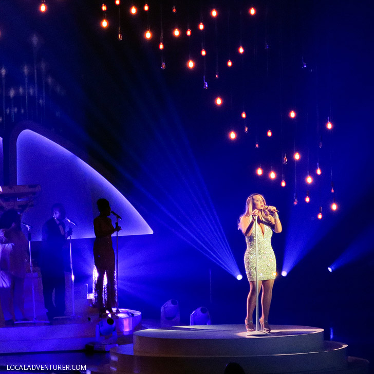 Mariah Carey Las Vegas Show at the Caesars Palace Hotel.