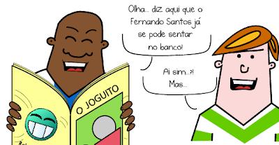 Cartoon cómico: Fernando Santos já se pode sentar no banco