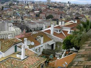 Крыши Лиссабона у стен Замка Святого Георгия