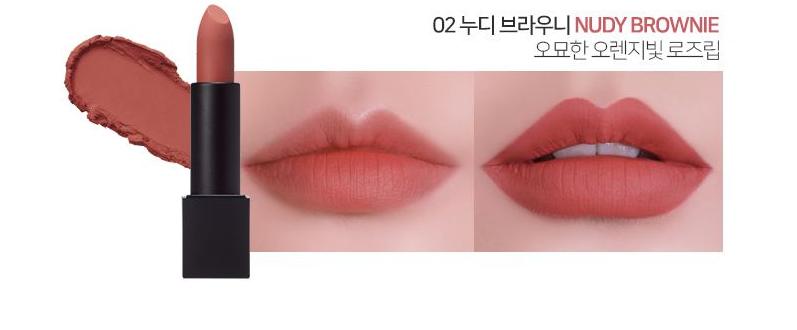 Son LUNA Realway Velvet Lipstick Nudy Brownie