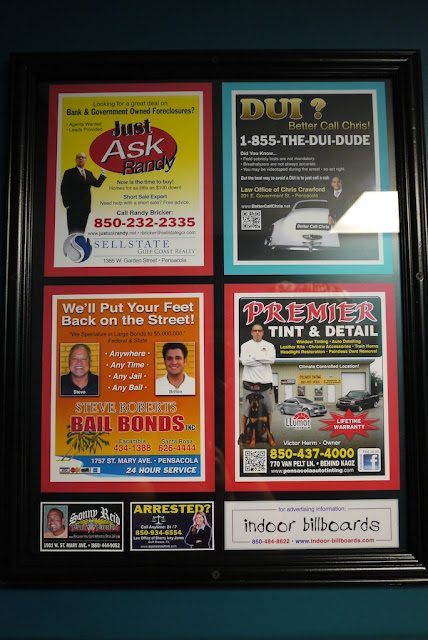 several ads including two for bail bonds
