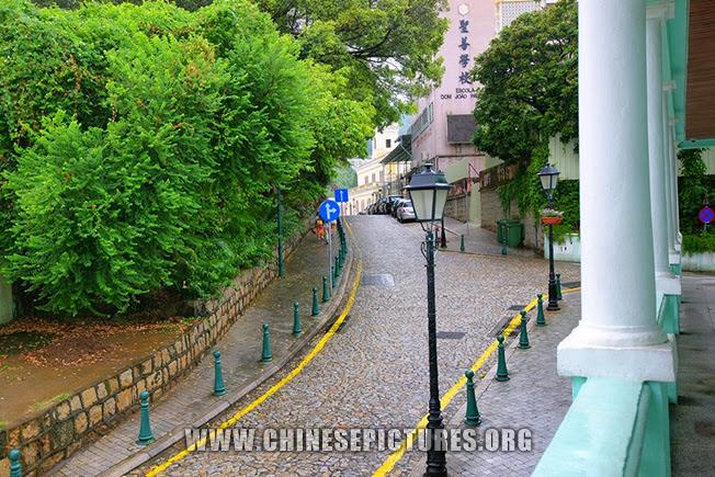 Macau Photo: Street leads to ESCOLA DOM JOAO PAULINO