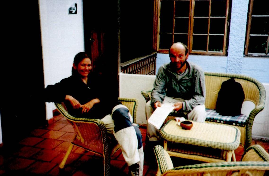 Gemütlicher Nachmittag im Hotel mit Kerstin und Bernd, die vor einem dreiviertel Jahr in Kanada gestartet sind.