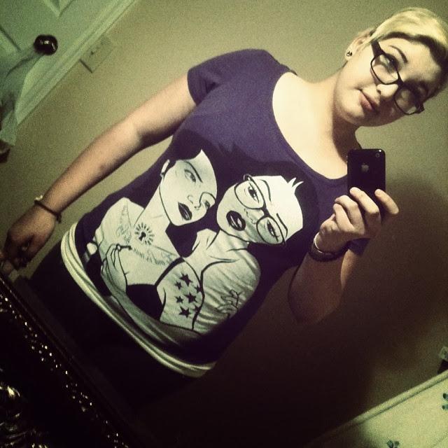 lesbian shirt, art shirt girls, geek girl shirt, tattooed geeks