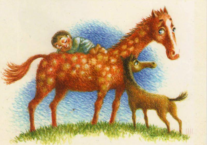 Тюльпаны добрым, про лошадь открытки