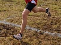 running on grass