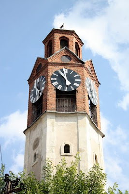 Clock tower in Pristina Kosovo