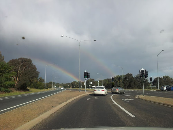 double rainbow over belconnen