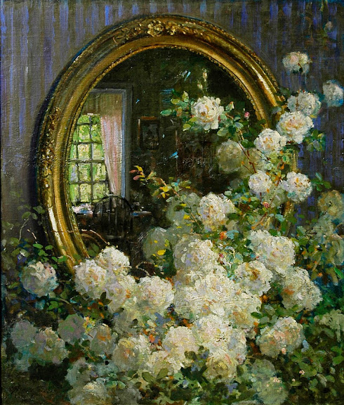 Abbott Fuller Graves - Flowers and Mirror