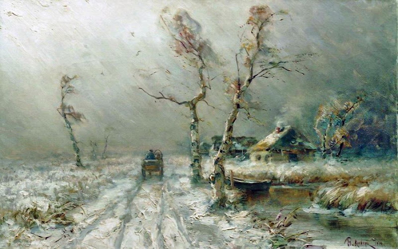 Julius Sergius von Klever - The blizzard is coming. 1910
