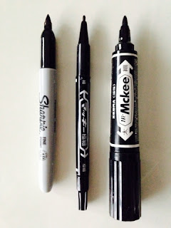 Sharpie and ZEBRA マッキー