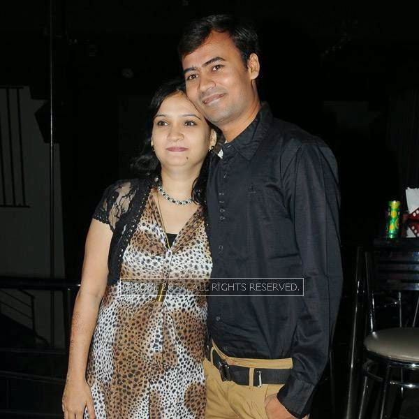 Deepak and Rakhi during a party in Hyderabad.