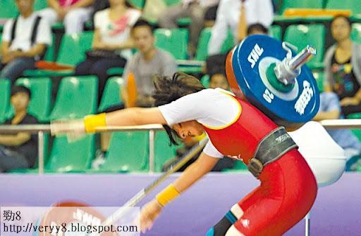 江若琳每日練習舉鐵,更試過失手弄傷背部。