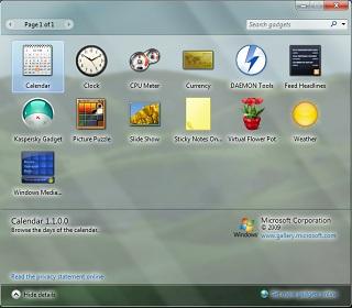 Windows 7 tiene aplicaciones llamadas gadgets, las cuales son funciones que podemos colocar a los lados de nuestra pantalla.