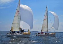 J/29 one-design sailboats sailing Canada, Halifax, Nova Scotia