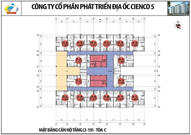 Mặt Bằng Căn Hộ Chung Cư B2.1 HH02C THanh Hà Cienco 5 Land
