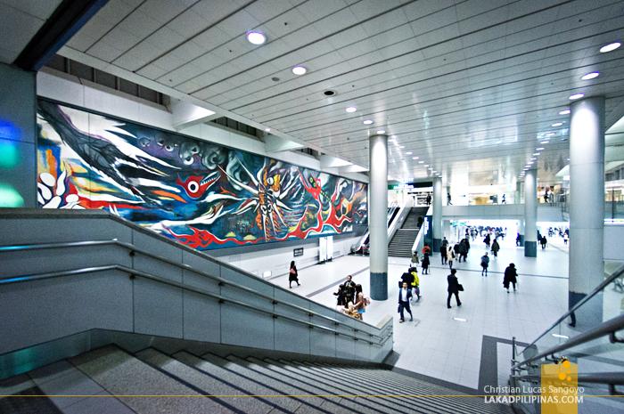 Shibuya Station at the Tokyo Subway