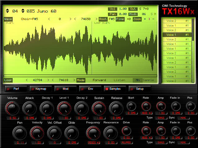 TX16Wx Sampler