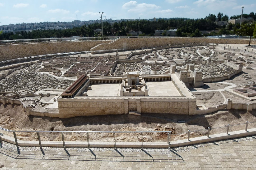 Herods Temple after 18 BCE - Model at the Israel Museum