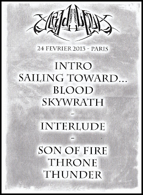 Set-list Nydvind @ Cernunnos Pagan Festival 6 @ La Machine du Moulin Rouge, Paris 24/02/2013