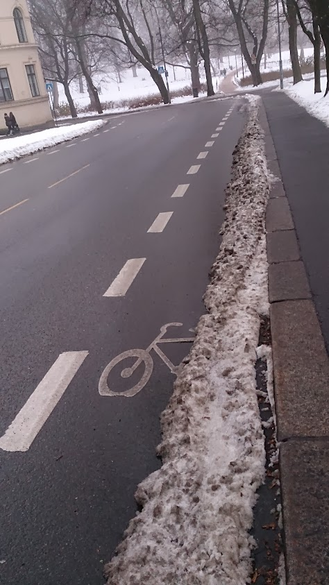 Sykkelfelt Wergelandsveien
