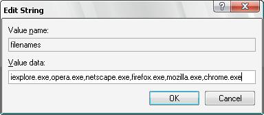 Edit Registry key for FlashMute