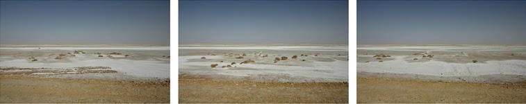 Bem visível o sal que ficou à superfície