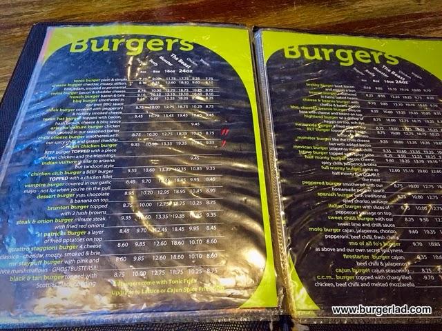 Tonic Dundee 8oz Dessert Burger