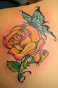 Butterfly and Rose Tattoo Ideas 2