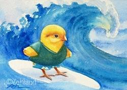 Ferdinand surfing