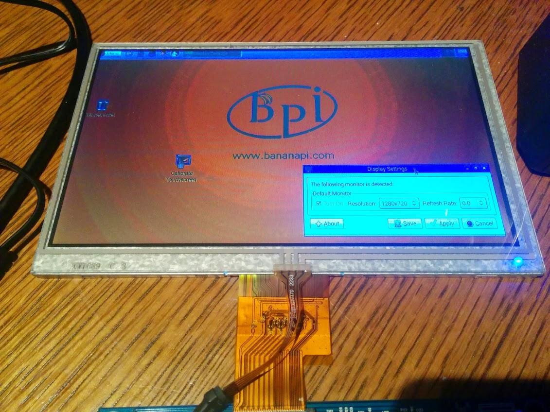 7 Zoll Touchscreen in Betrieb