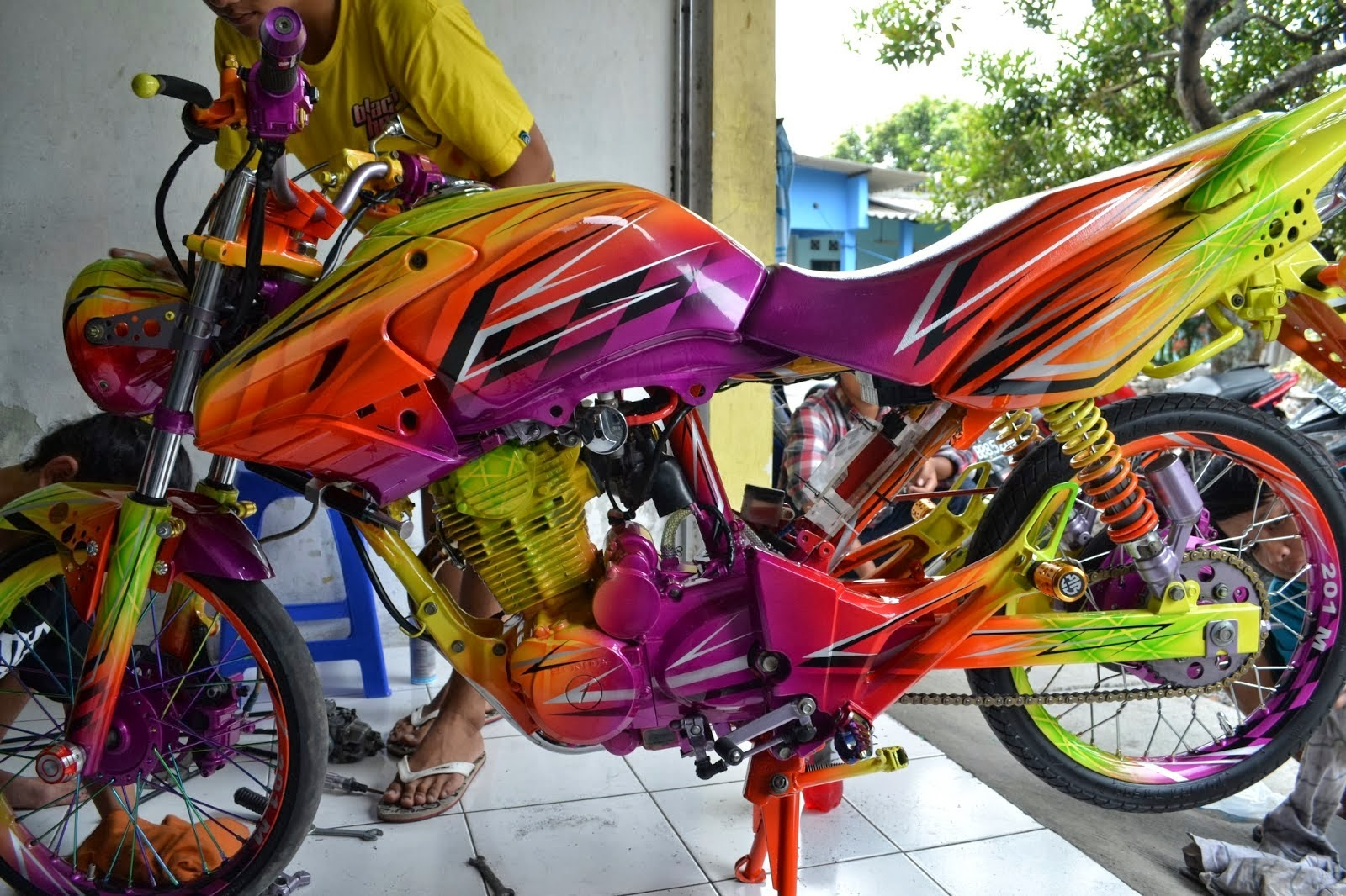Modifikasi Honda Beat Fi Minimalis