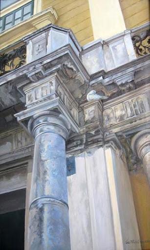 """Opera House of Chisineu"" by artist Linda Wilmes."
