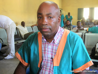 Kanku Mukadi Jean-Pierre le 14/02/2014 à la prison militaire de Ndolo à Kinshasa, lors d'un procès. Radio Okapi/Ph. John Bompengo