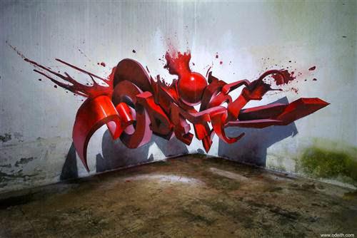 3Dஇல் மிதக்கும் ஆச்சரியமான சாலை ஓவியங்கள் : புகைப்படங்கள்