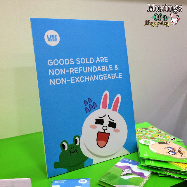GOODS SOLD ARE NON-REFUNDABLE & NON-EXCHANGEABLE SIGN / LABEL
