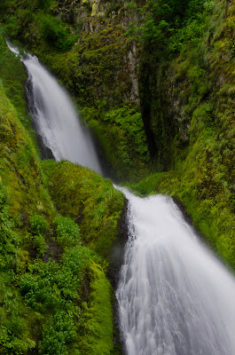 Wahkeena Falls closer