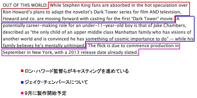 the first Dark Tower movie is due to commence production in September in New York
