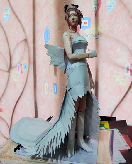 Final Fantasy X Yuna Papercraft Wedding Dress